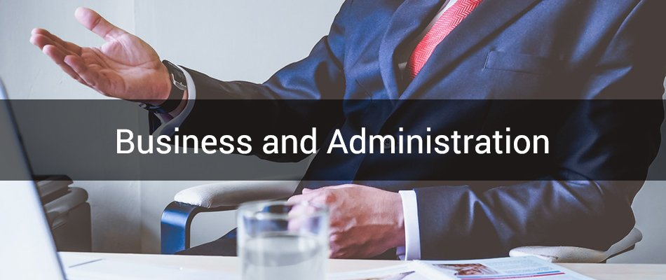 business and administration banner