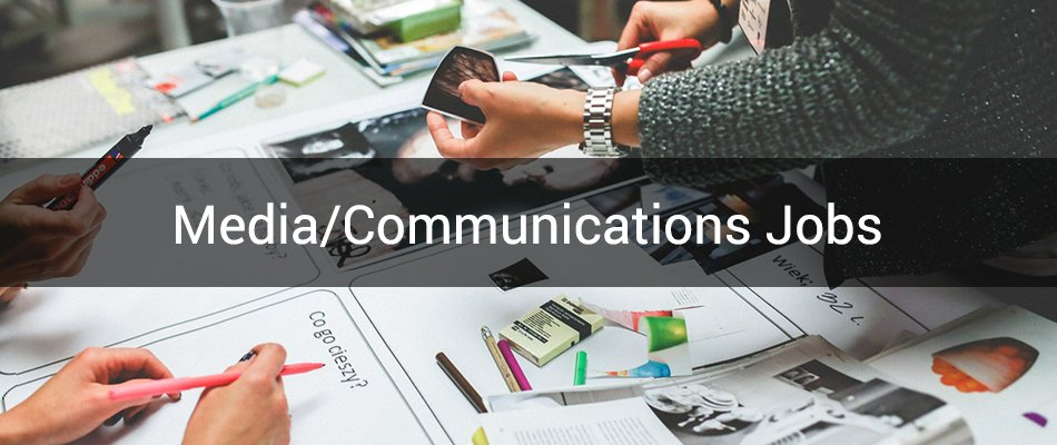media and communications category banner