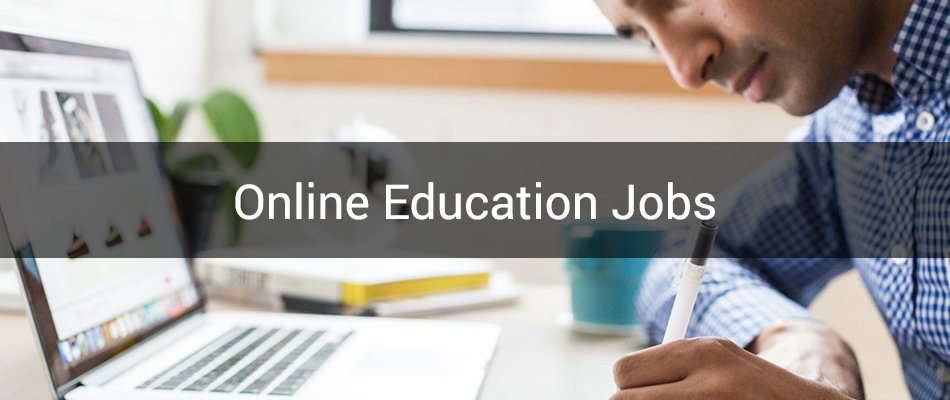 remote education jobs banner