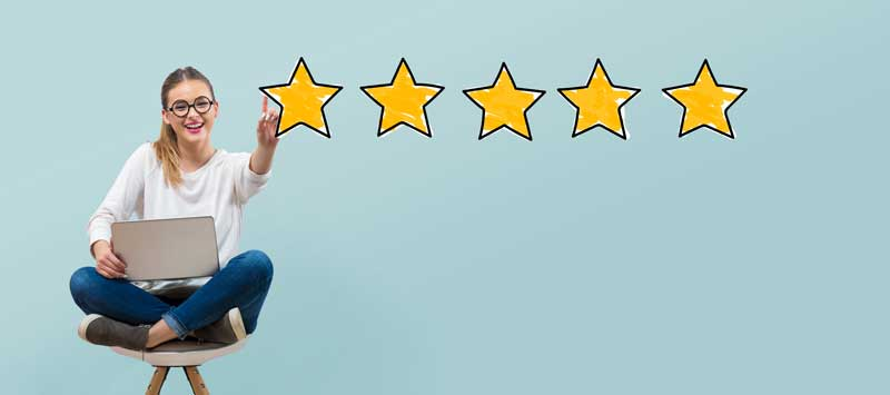 woman experiences positive customer service