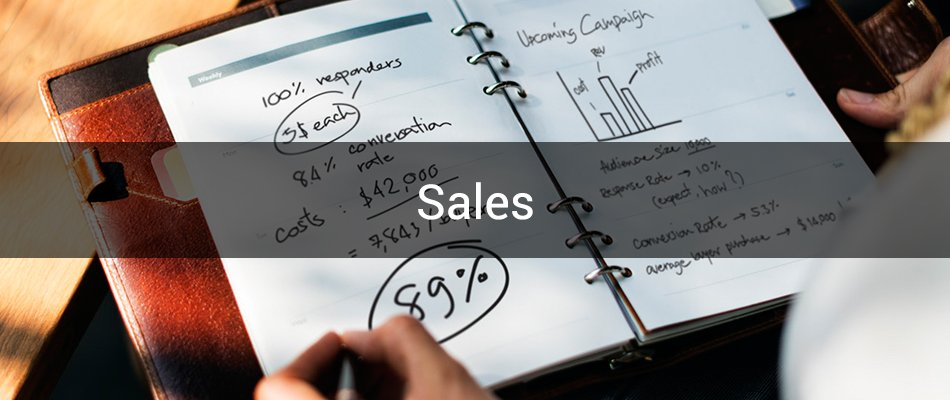 Sales category banner