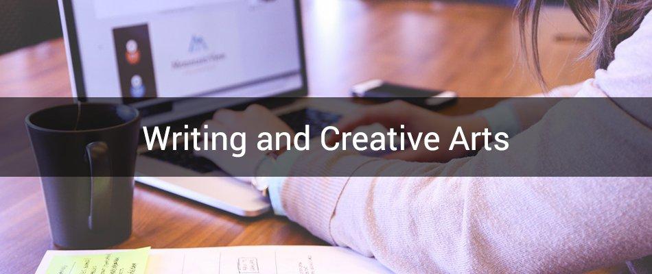 writing and creative arts banner